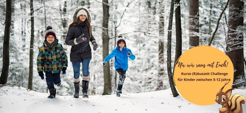 Spazierengehen mit Kindern im Winter