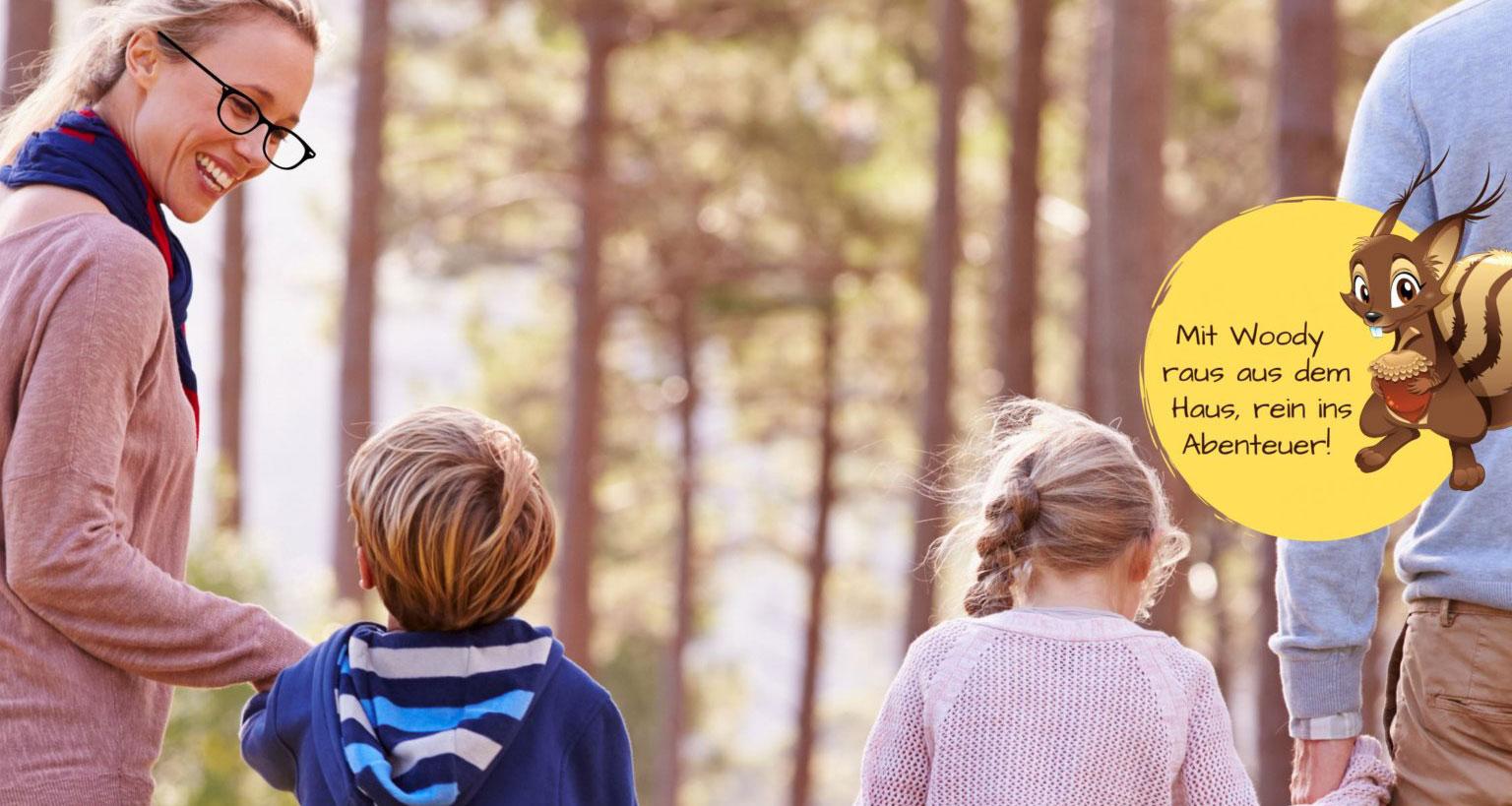 Mit Kindern im Wald unterwegs