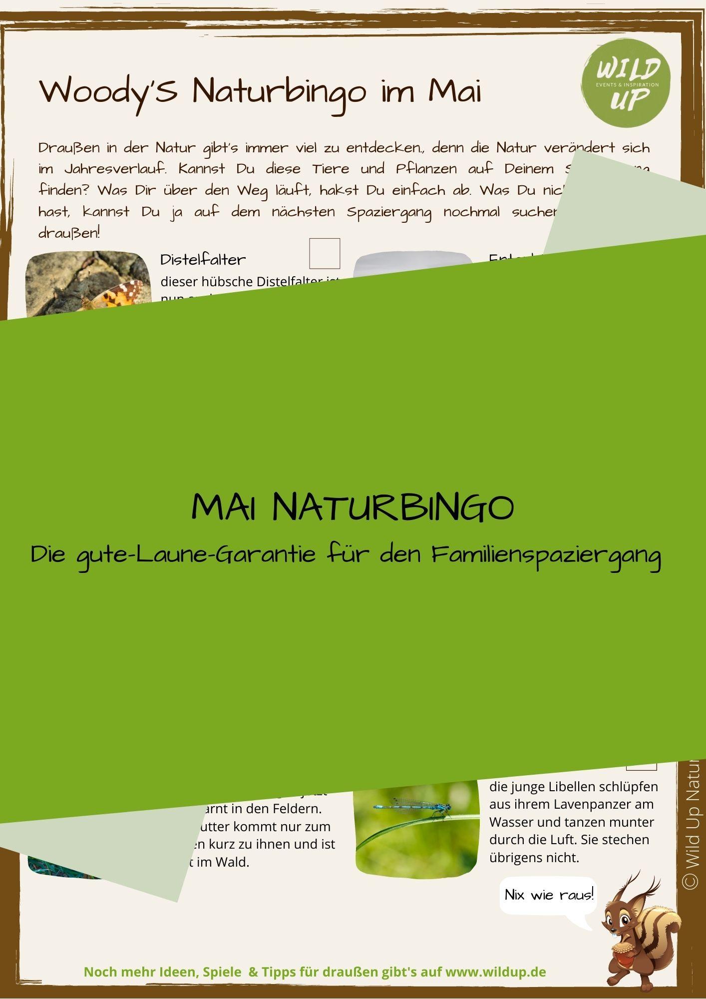 Naturbingo spielen mit Kindern