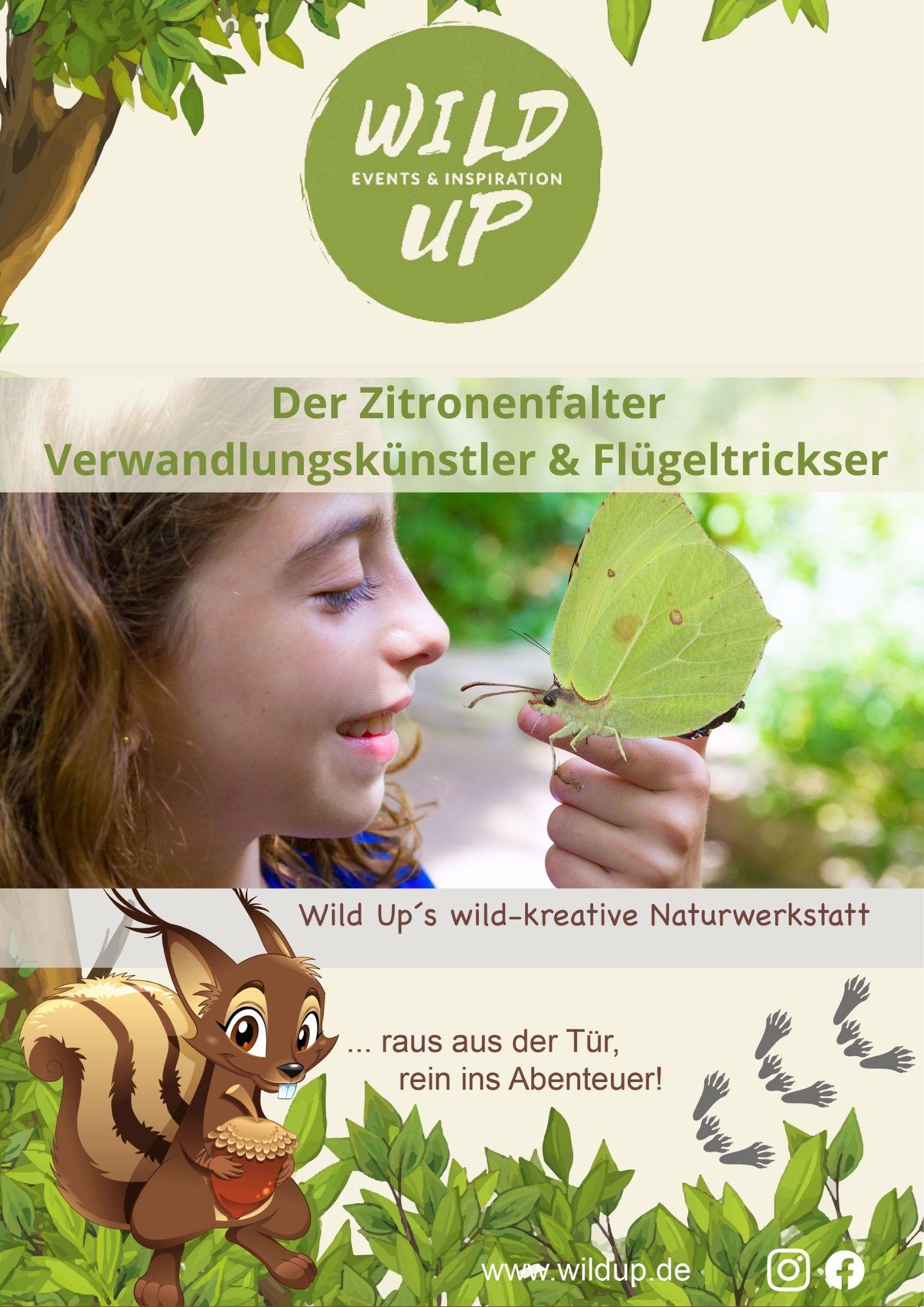 Naturabenteuerheft zum Zitronenfalter für Kinder